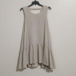 Free People Drop Waist Ruffle Dress M